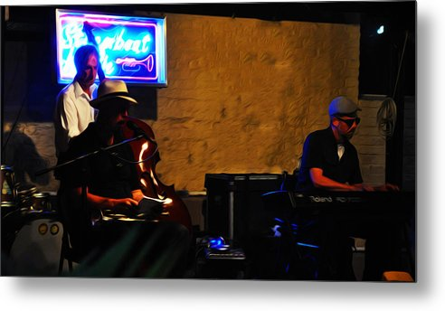 New Orleans Jazz Band Metal Print featuring the photograph New Orleans Jazz Band by Bill Cannon