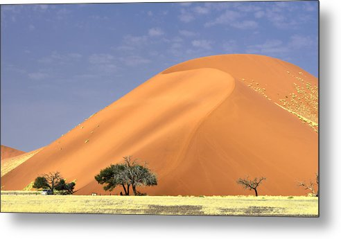 Horizontal Metal Print featuring the photograph Sand Dunes, Sossusvlei by Marco Brivio