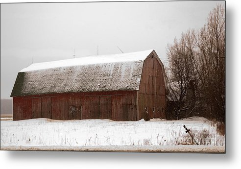 Barn Metal Print featuring the photograph Winter Barn by Ginger Harris