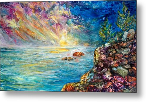 Seascape Metal Print featuring the painting Ascension by Mary Sonya Conti