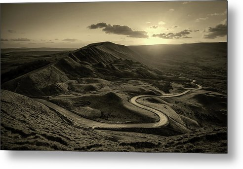 Mam Tor Metal Print featuring the photograph Mam Tor In Derbyshire by Unsplash