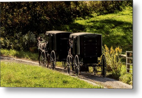 Amish Metal Print featuring the photograph Amish Country by Mountain Dreams