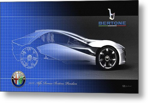 Wheels Of Fortune By Serge Averbukh Metal Print featuring the photograph Alfa Romeo Bertone Pandion Concept by Serge Averbukh