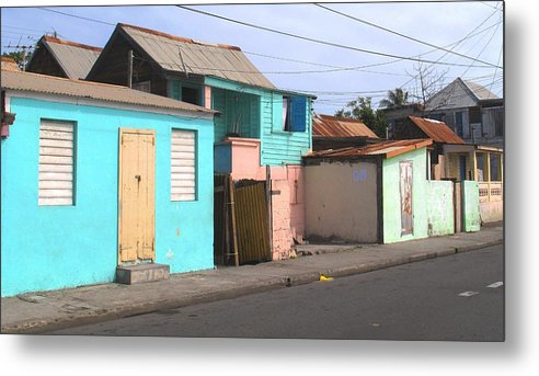 St Kitts Metal Print featuring the photograph Along Bay Road by Ian MacDonald