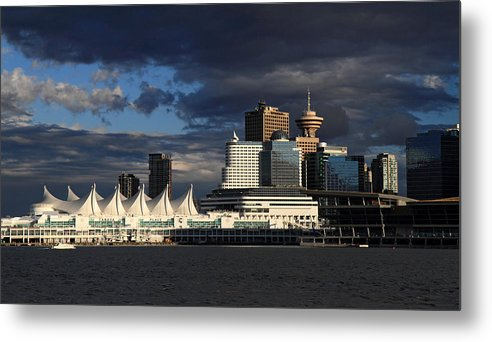 Canada Metal Print featuring the photograph Canada Place Vancouver City by Pierre Leclerc Photography