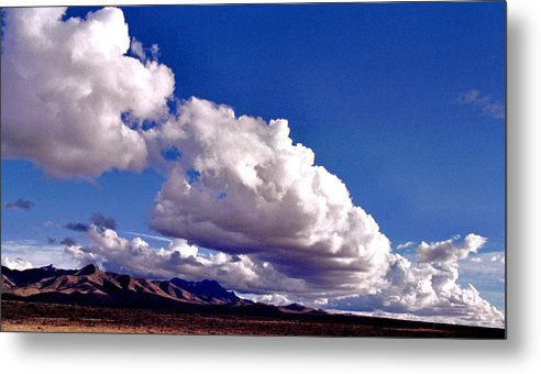 Landscape Metal Print featuring the photograph Clouds Marching by Randy Oberg