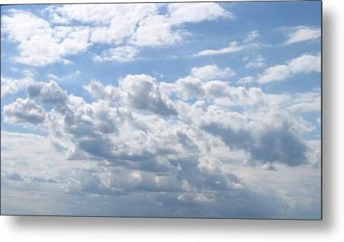 Clouds Metal Print featuring the photograph Cloudy by Rhonda Barrett