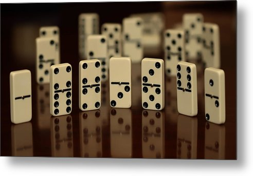 Dominos Metal Print featuring the photograph Dominos by Cherie Duran