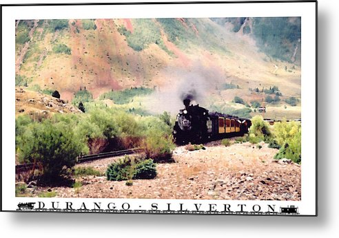 Photo Painting Metal Print featuring the photograph Durango-silverton Train by Greg Taylor
