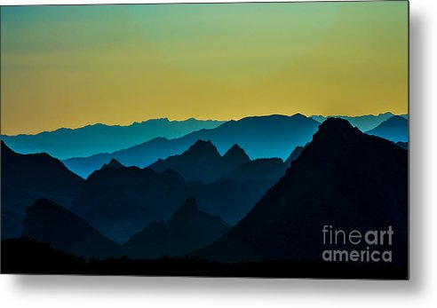 Mountains Metal Print featuring the photograph Evening At Lake Mead by Stephen Whalen
