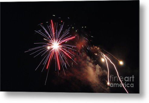 Firewoks Metal Print featuring the photograph Fireworks Twenty Eleven Iv by Daniel Henning