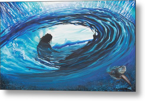 Surf Metal Print featuring the painting Glass Eye 2 by Ronnie Jackson