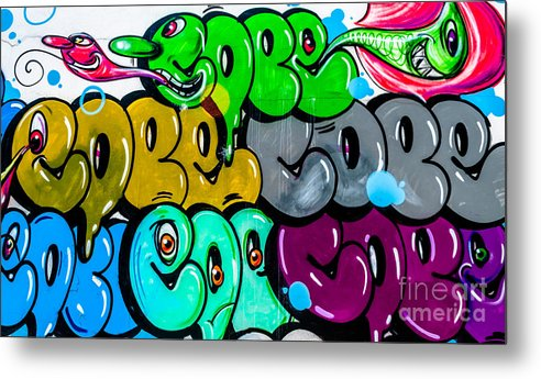 Artistic Metal Print featuring the photograph Graffiti Art Nyc 8 by Anakin13