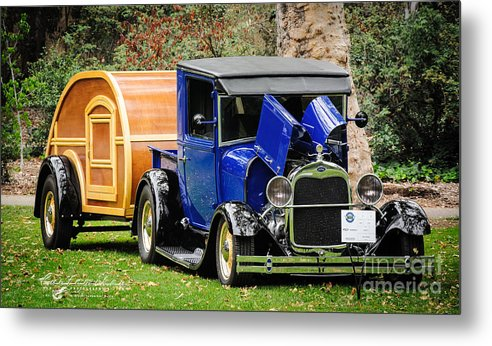 Model A Metal Print featuring the photograph Happy Camper by Customikes Fun Photography and Film Aka K Mikael Wallin