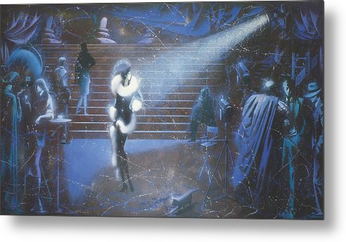 Figures Metal Print featuring the painting Hollywood by Andrej Vystropov