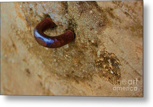 Concrete Metal Print featuring the photograph Hooked by Debbi Granruth