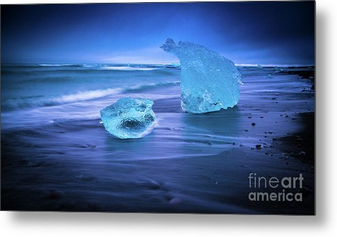 Iceland Metal Print featuring the photograph Irridescent Jokulsarlon Blue Ice by Mike Reid