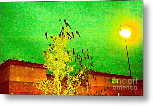Black Birds Metal Print featuring the photograph Kafka Summons His Birds To The Castle by Chuck Taylor