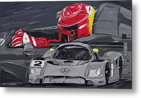 Cars Metal Print featuring the painting Legend Michael Schumacher by Roberto Muccilo