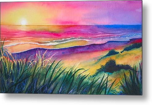Pacific Metal Print featuring the painting Pacific Evening by Karen Stark