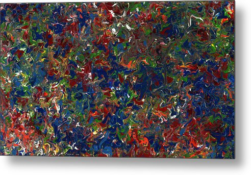 Abstract Metal Print featuring the painting Paint Number 1 by James W Johnson