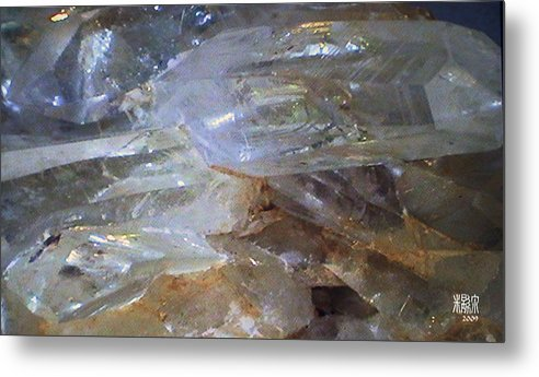 Microscopic Metal Print featuring the photograph Quartz by Michele Caporaso