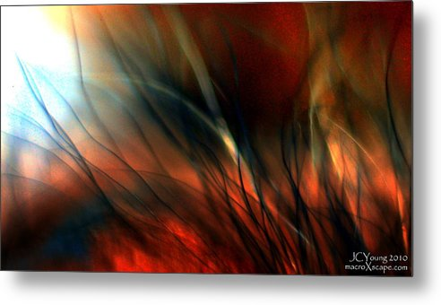 Fire Metal Print featuring the photograph Raging Fire by Jim Young