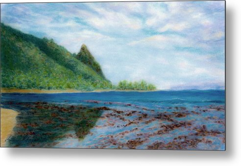 Rainbow Colors Pastel Metal Print featuring the painting Reef Walk by Kenneth Grzesik