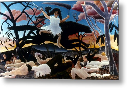 1894 Metal Print featuring the photograph Rousseau: War, 1894 by Granger