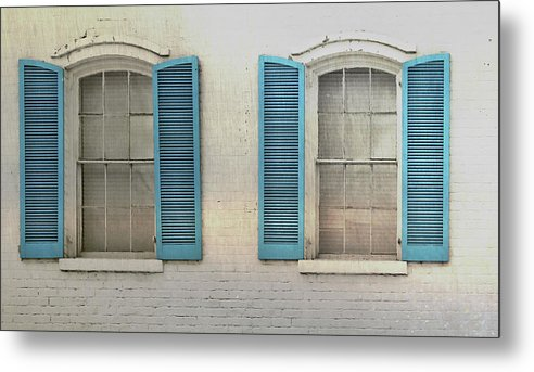 Home Metal Print featuring the photograph Shutter Blue by JAMART Photography