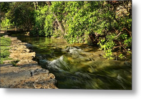 America Metal Print featuring the photograph Small Creek At Landa Park by Judy Vincent