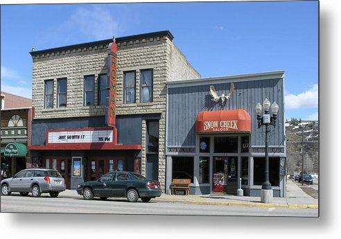 Red Lodge Metal Print featuring the photograph Snow Creek Saloon by Janis Beauchamp