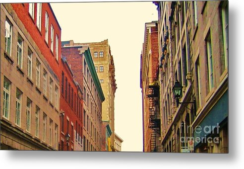 Photography Metal Print featuring the photograph Streets Of Montreal by Reb Frost