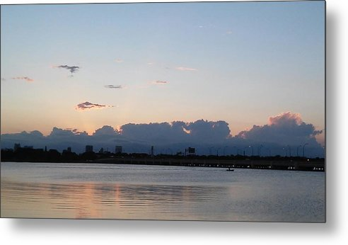 Metal Print featuring the photograph Sunset At The Lake7 by John Hiatt