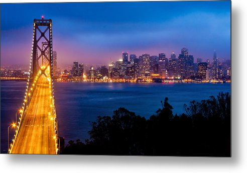 Bridge Metal Print featuring the photograph The Bay Bridge by Alexis Birkill