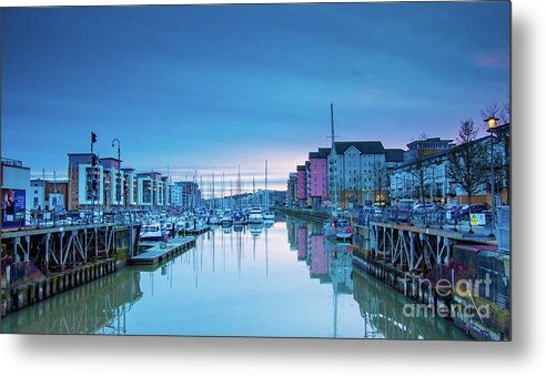 Lock Gates Metal Print featuring the photograph The Old Lock Gates by Martin Waters