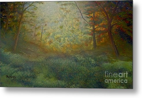 Trees Metal Print featuring the painting Tranquility by Todd Androy