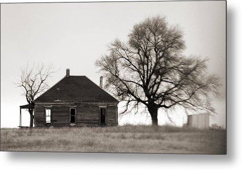 Texas Metal Print featuring the photograph West Texas Winter by Marilyn Hunt