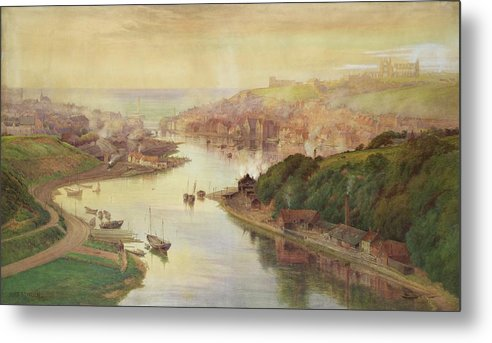 Whitby Metal Print featuring the painting Whitby From Larpool by John Sowden