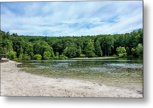 Hunting Creek Lake Metal Print featuring the photograph Hunting Creek Lake In Cunningham Falls State Park - Maryland by Brendan Reals