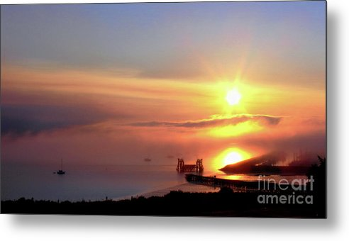 Sunny Metal Print featuring the photograph Sunrise - Morning Calm by Scott Cameron