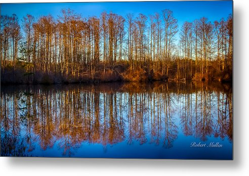 Landscape Metal Print featuring the photograph Reflections by Robert Mullen