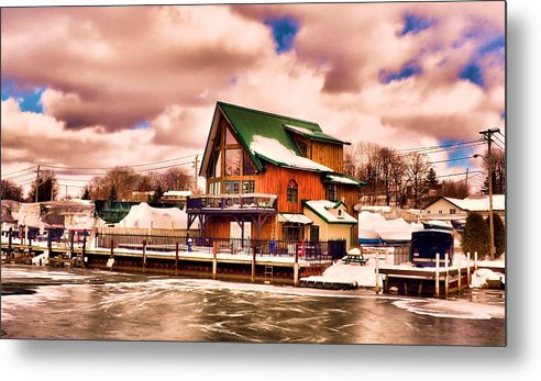 Channel. Water Metal Print featuring the photograph Port Dover by Tracy Bennett