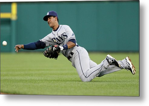 American League Baseball Metal Print featuring the photograph Tampa Bay Rays V Detroit Tigers 2 by Duane Burleson