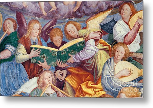 From The Dome Metal Print featuring the painting The Concert Of Angels by Gaudenzio Ferrari