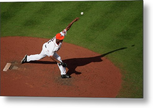 American League Baseball Metal Print featuring the photograph Chicago White Sox V Houston Astros 7 by Scott Halleran