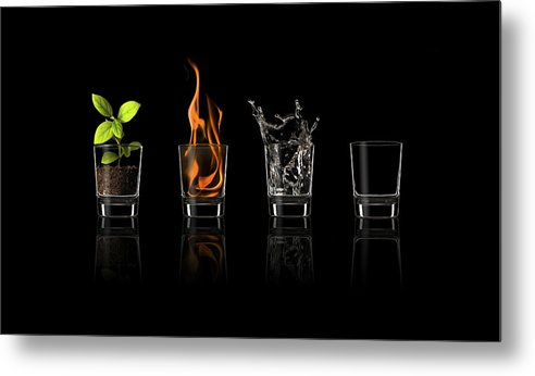 Four Metal Print featuring the photograph Elements... by Jose Mar?a Frutos