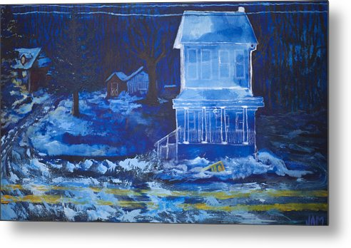 Ghost Metal Print featuring the painting Ghost House by Jacob Mccauley