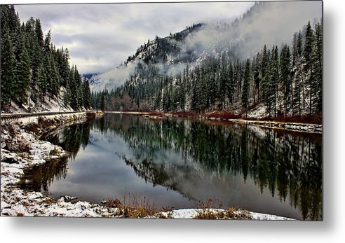 Mountain Metal Print featuring the photograph Mountain Lake Reflection by Rick Lawler