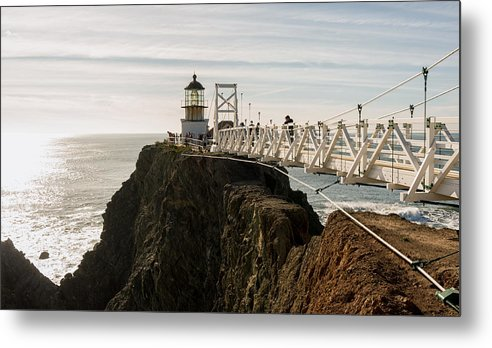 California Metal Print featuring the photograph Point Bonita Lighthouse by Georgia Fowler